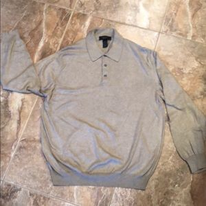 Men's Toscano cotton/rayon polo front sweater